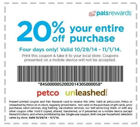 Petco Printable Coupons 2018 Print coupons, Printable