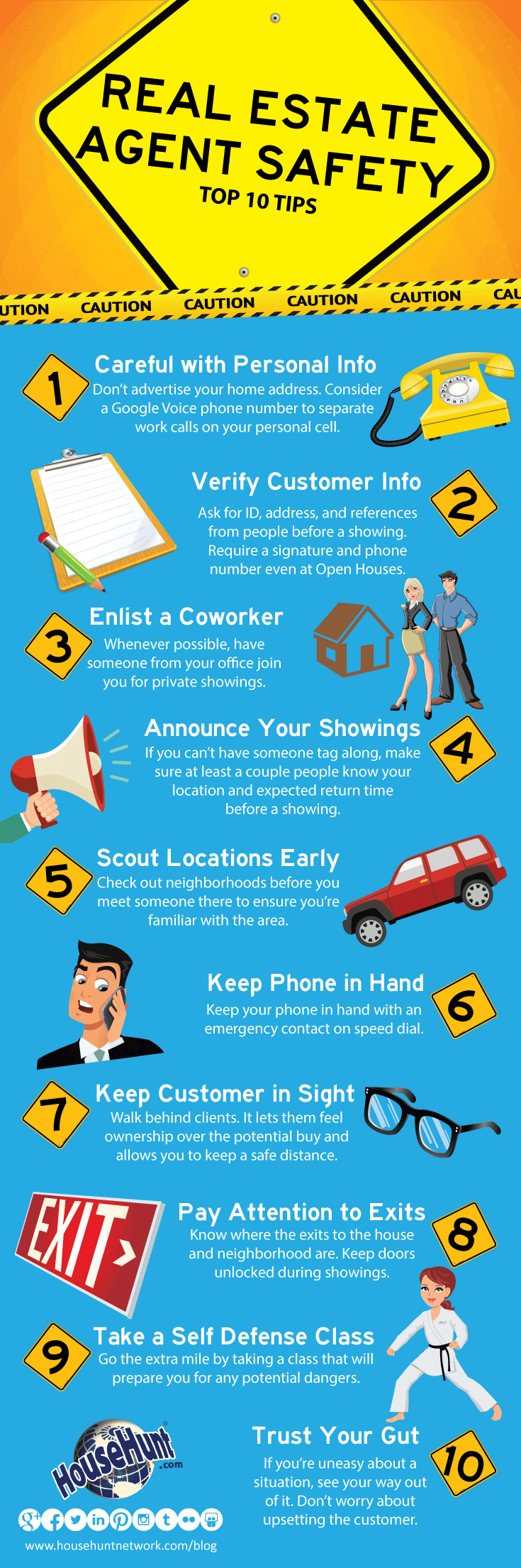 Top 10 Real Estate Agent Safety Tips [Infographic