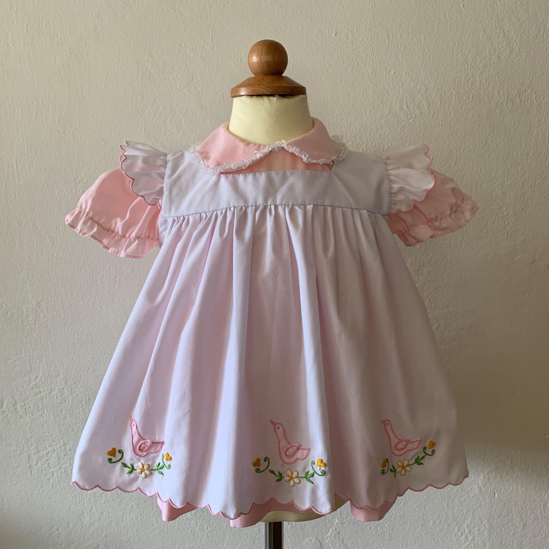 Vintage Pinafore Baby Dress Vtg Baby Dress Set Vintage Baby Girls Dress Vtg Toddler Dress Vtg Baby Dress V In 2020 Vintage Baby Dresses Baby Dress Baby Dress Set