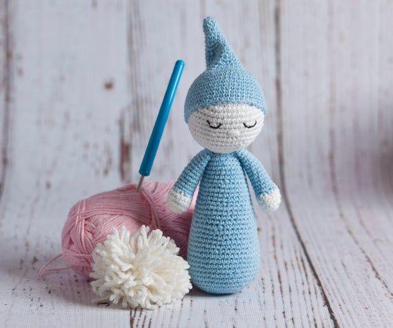Sleepy cuddly, birthday, baptism, one year old, first gift, crochet hook, Christmas, baby, cute gift, Amigurumi, Baby shower
