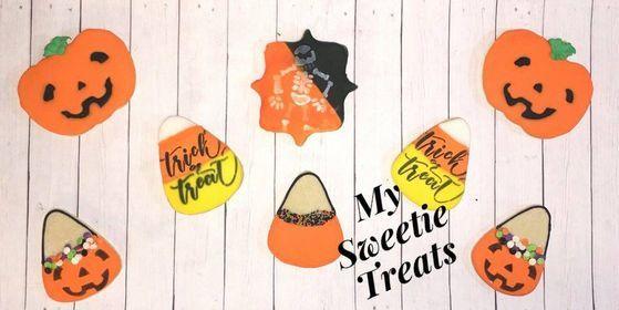 #halloween #halloweencookies #trickortreat #halloweenfavors #halloweengifts #pumpkin #halloweensugarcookies #decoratedsugarcookies #candycorn #skeleton #royalicing #royalicingsugarcookies