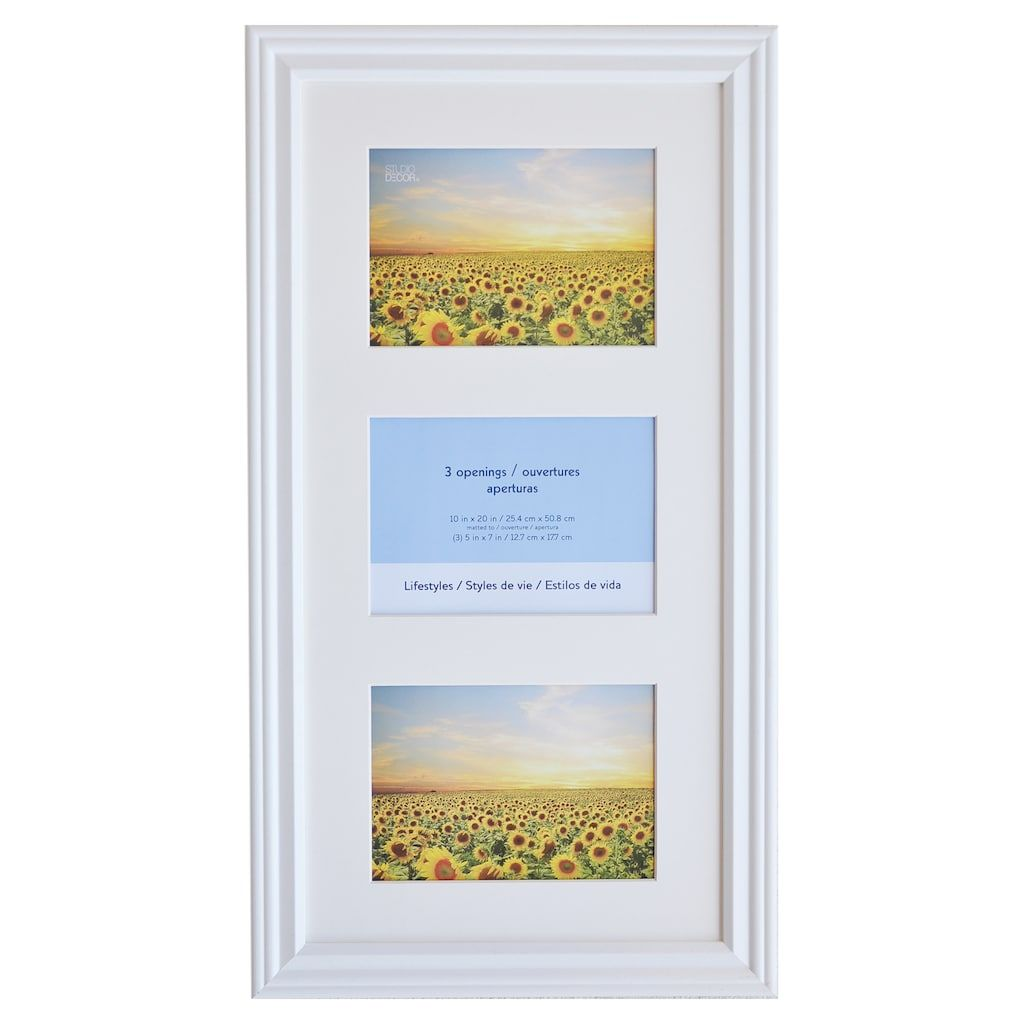 White 3 Opening Collage Frame 5 X 7 Lifestyles By Studio Decor Studio Decor Collage Frames Frame