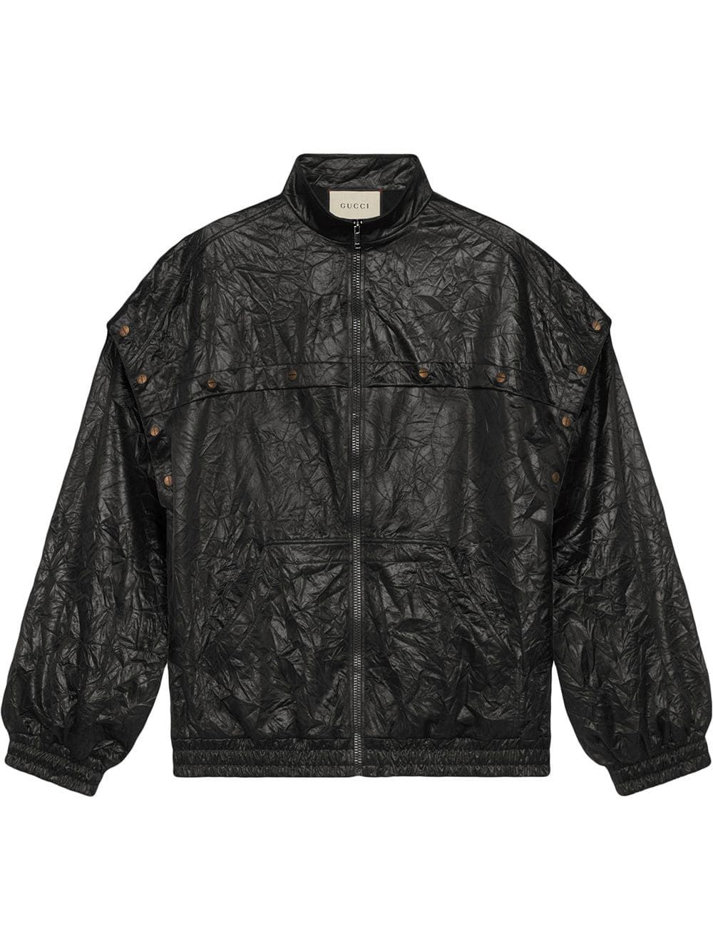 c68d9f384b Gucci crinkled-effect jacket - Black in 2019 | Products | Jackets ...