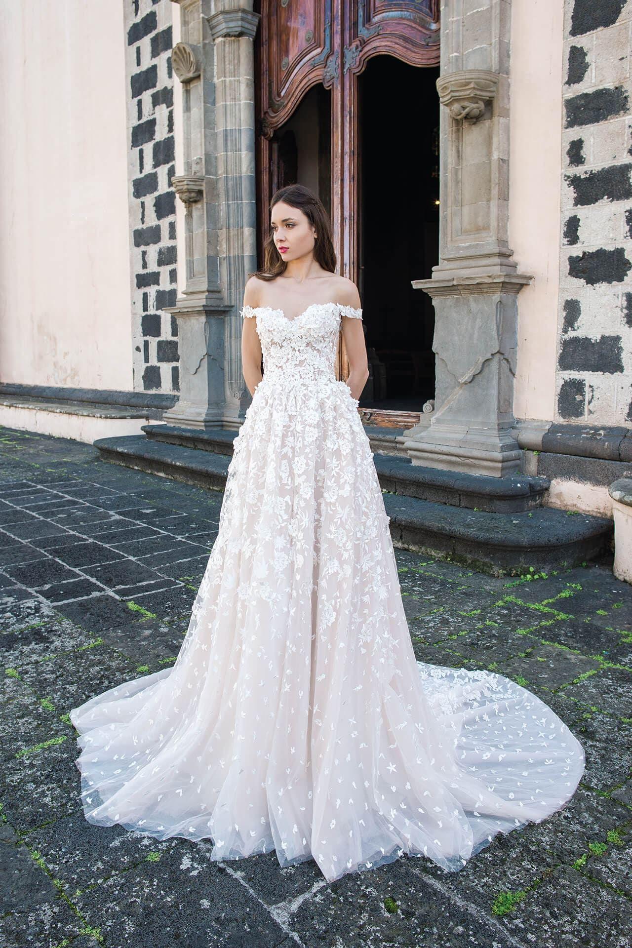 da5c57ad9bf7e MEADOW wedding dress by OKSANA MUKHA Wedding Dresses Houston, Wedding  Dresses Uk, Bridal Gowns