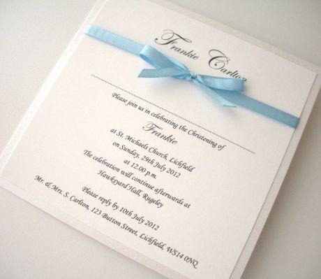 Never Blue around You     Christening Invitation for Baby Boys    MemoriesShop.co.uk