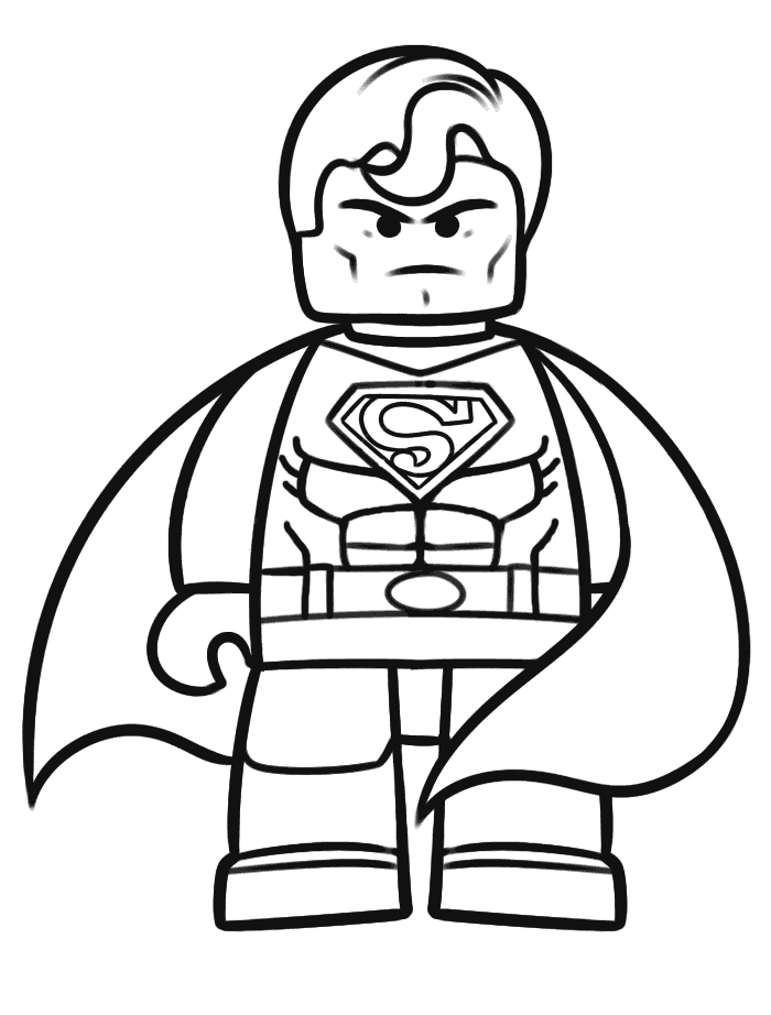 Lego Superman Pose Color Pages Superman Coloring Pages Lego