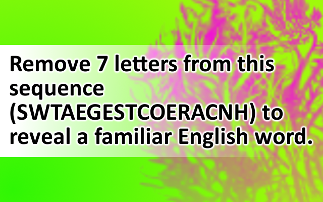 Remove 7 letters from this s... Word puzzles, How to
