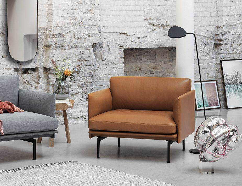 Leather Outline Sofa Melbourne Studio Chairs Lounge Chair Design Furniture