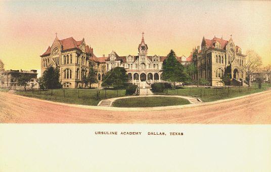 Vintage postcard Ursuline Academy, Dallas, Texas (With