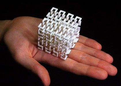 Print you own art: a 3D version of a Hilbert space-filling curve, printed on demand via Shapeways.