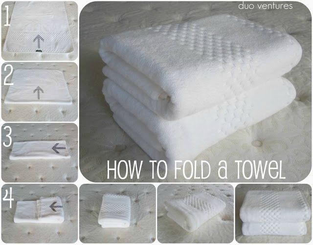 How to Fold a Towel (Duo Ventures) | Clean + Organized | Pinterest ...