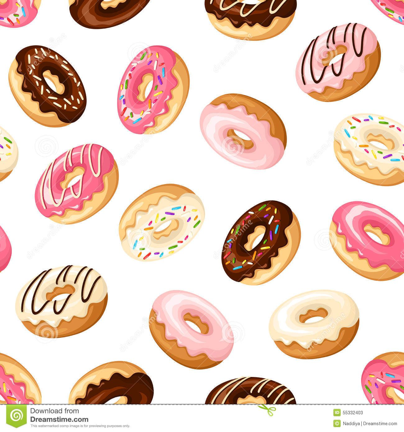 seamless-background-donuts-vector-illustration-pattern ...