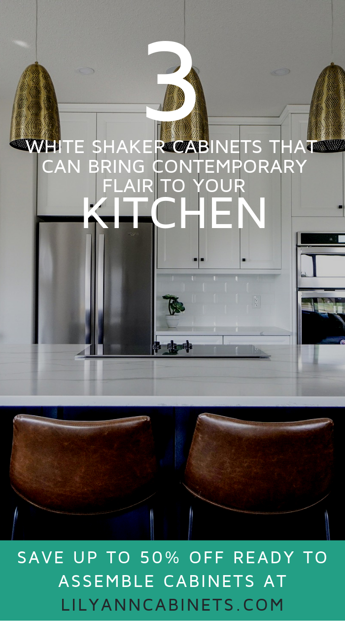 How White Shaker Cabinets Bring Contemporary Flair To Your Kitchen #whiteshakercabinets