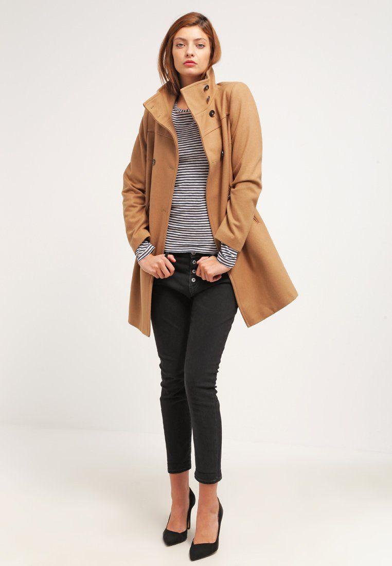 Manteau classique camel