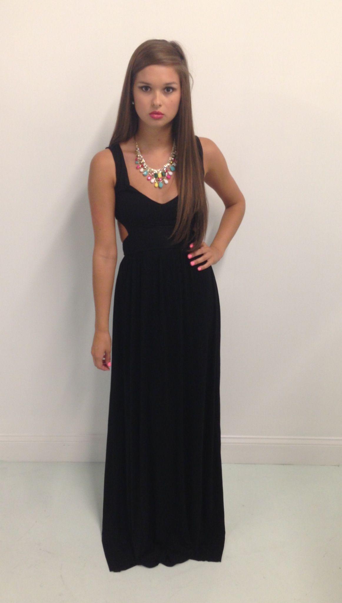 Black cutout maxi dress swoonboutique chandler w swoon