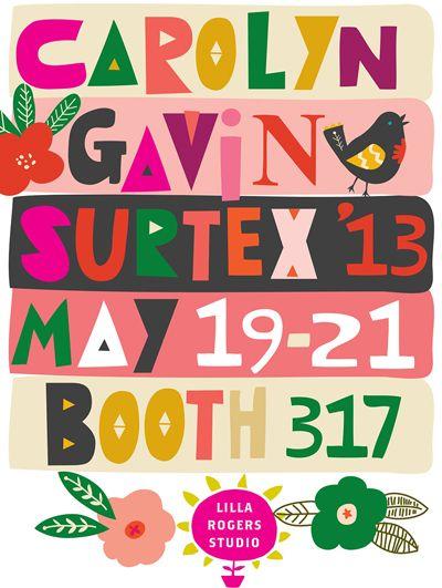 carolyn gavin..surtex..on print & pattern