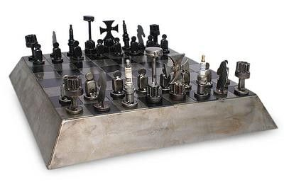 enjoyable ideas cheap chess sets. Chess is a warriors game and each of these rugged sets are custom made from  real reclaimed car parts retain their battle weary charm Battle On The Pyramid Set Project ideas