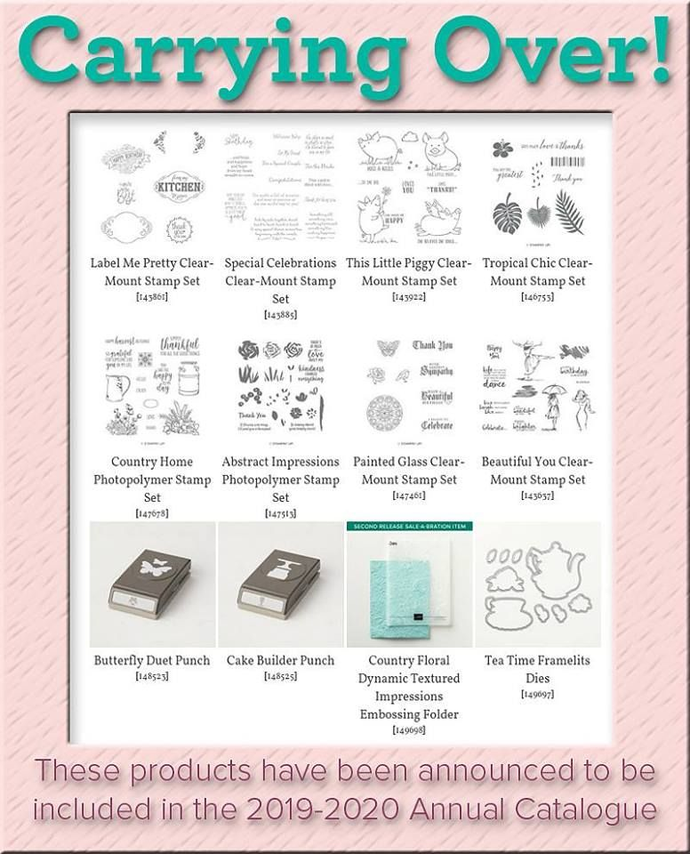 Stampin' Up!'s 2019-2020 Annual Catalog carry Over List – Mi