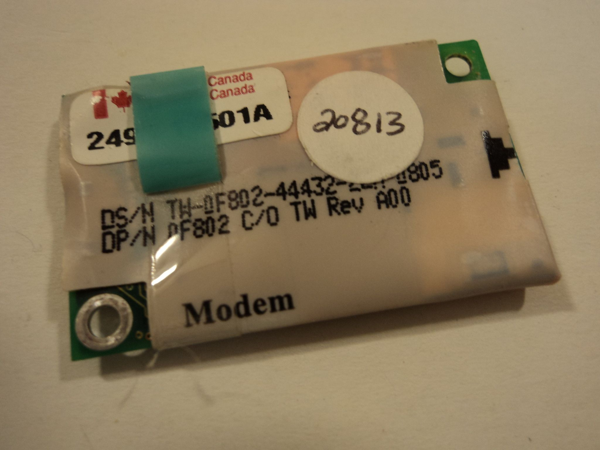 ActionTec Modem Card Green 3.1A OF802 Dell 249611501A MD560RD -- New