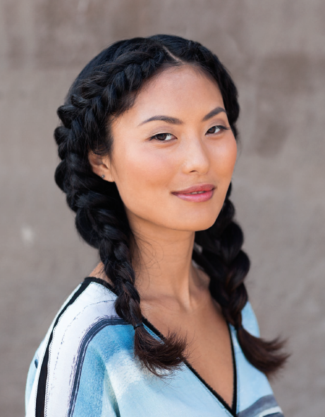 Peasant Braid - A simple hairstyle with two Dutch braids that frame the face, this goes just as well with a summer dress as with a leather jacket.