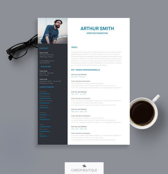CV Template Arthur Resume Format Cover Letter in English and - resume format in ms word