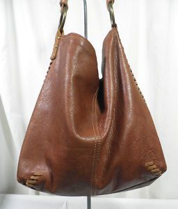Lucky Brand Bags Cognac Brown Leather Whipsch Soft Hobo Shoulder Bag