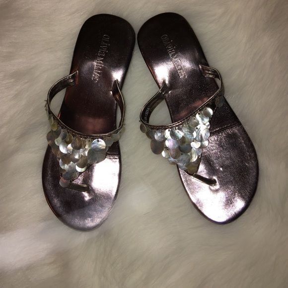 Shell Flip-flops Never worn. One shell missing.  Shoes Sandals