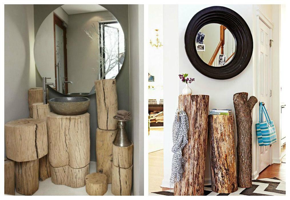 07 decoracion tronco conjunto muebles slow deco pinterest for Decoracion con muebles antiguos