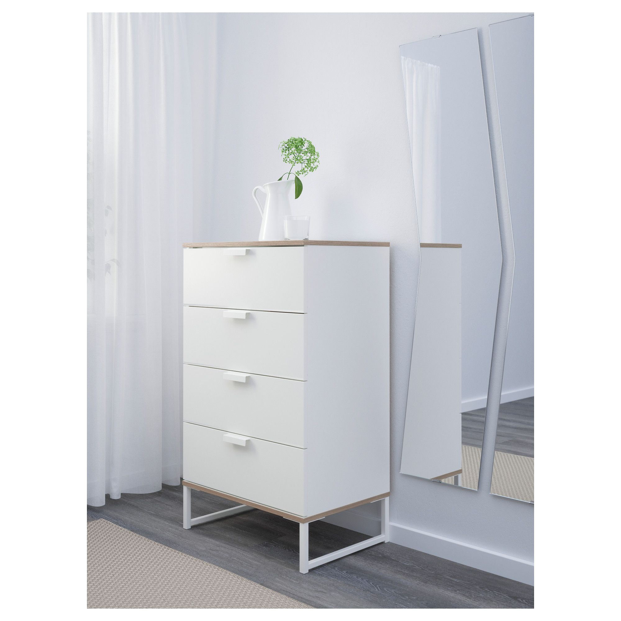 Ikea Trysil Chest Of 4 Drawers Smooth Running With Pull Out Stop