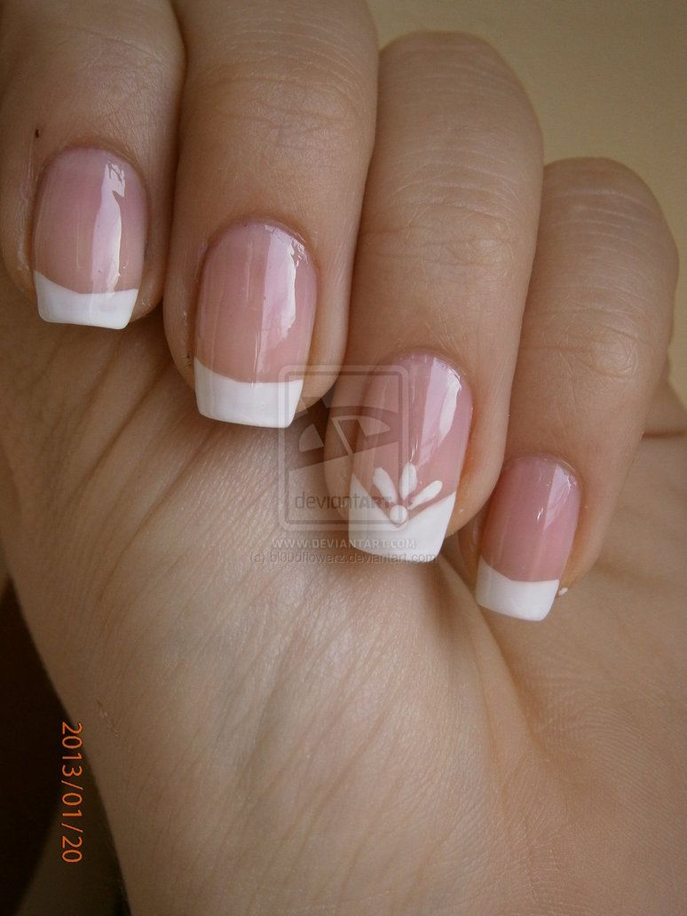 French manicure by bldflowerz on deviantart uña pinterest