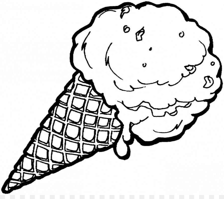 Coloring Pages Of An Ice Cream Cone Delicious Ice Cream Is Very