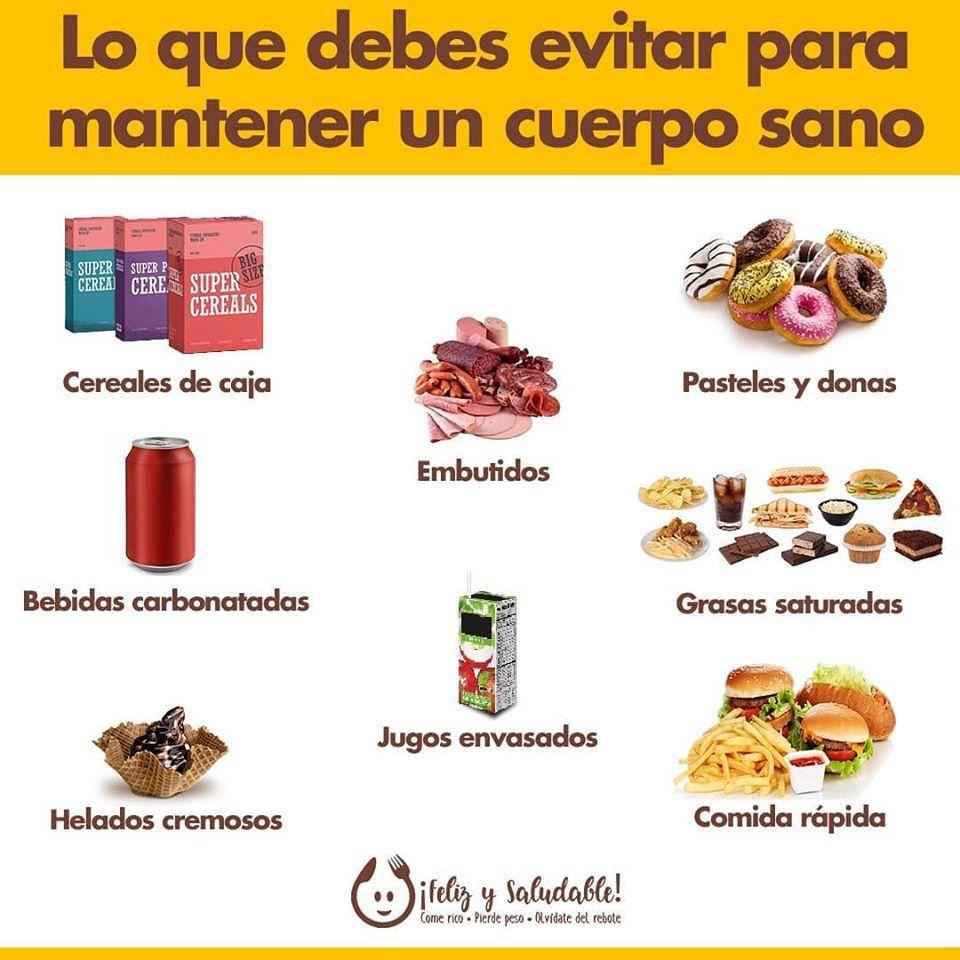 Lo Que Debes Evitar Para Mantener Un Cuerpo Sano Procesador De Alimentos Vida Sana Y Saludable Alimentos Saludables
