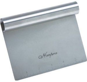 Norpro Vegetable Chopper Stainless Steel Bench Scraper Measuring