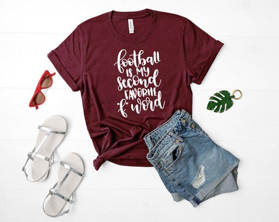 FOOTBALL is my second favorite F word, Football Shirt Unisex fit, Maroon football shirt, football mom shirt, UNISEX fit Shirt Football #newgrandma