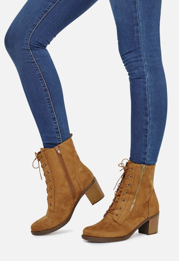 21e5c5d785a Elora Shoes in Tan - Get great deals at JustFab. Elora Wide Calf Boots ...