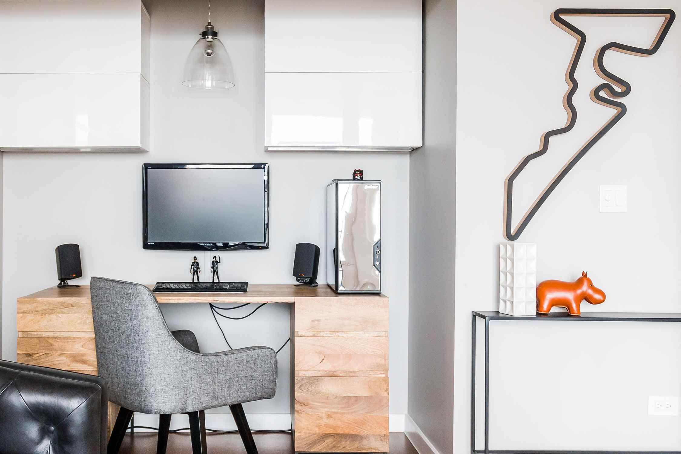 Beautiful Unique Creative Modern Bookshelf Design Ideas Masculine Home Offices Living Room Office Desk Living Room Office #office #and #living #room