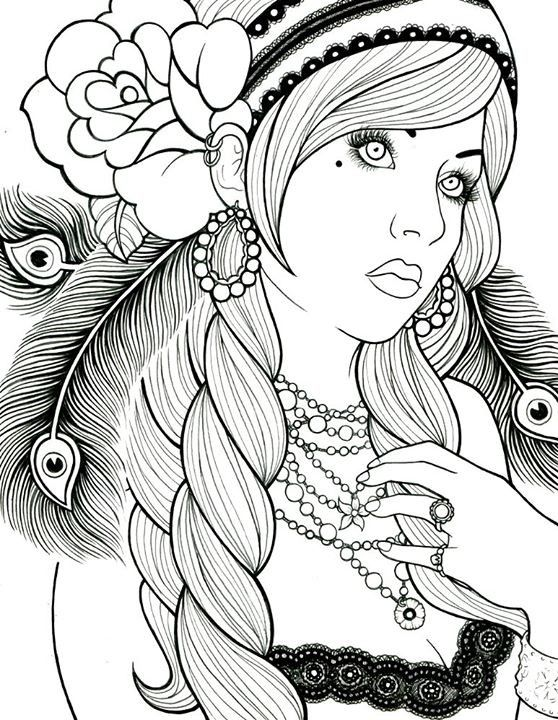 Coloriages zen pour adultes coloriages girly pinterest - Coloriage manon ...