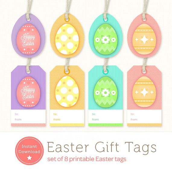 Instant download easter tags set of 8 printable easter egg gift instant download easter tags set of 8 printable easter egg gift tags negle Image collections