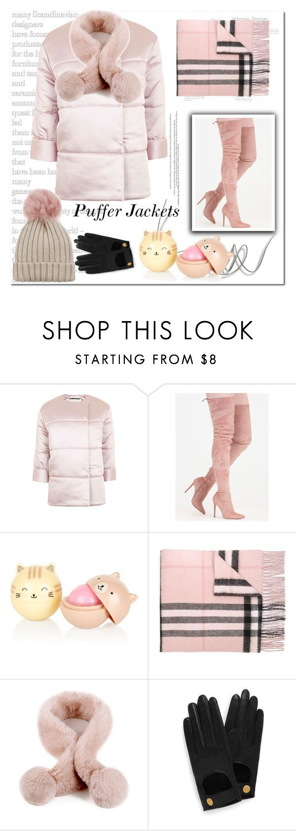 """""""Puffer Jackets"""" by ilona-828 ❤ liked on Polyvore featuring Topshop, Burberry, Mulberry, Jocelyn, polyvoreeditorial and puffers"""