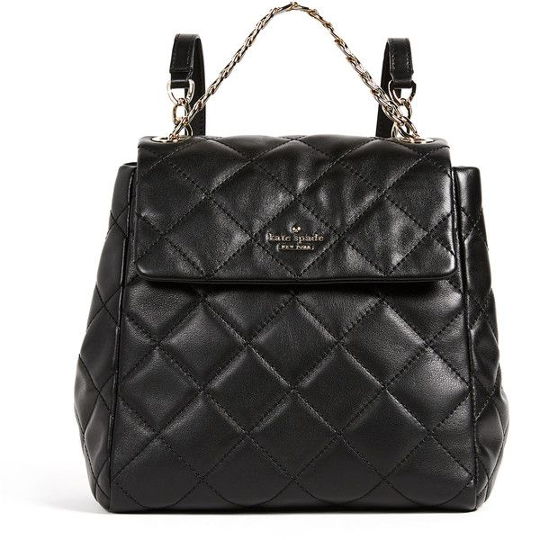 Kate Spade New York Emerson Place Martina Bag (2256895 PYG) ❤ liked on Polyvore featuring bags, handbags, shoulder bags, black, genuine leather handbags, chain shoulder bag, flap shoulder bag, studded shoulder bag and leather shoulder bag