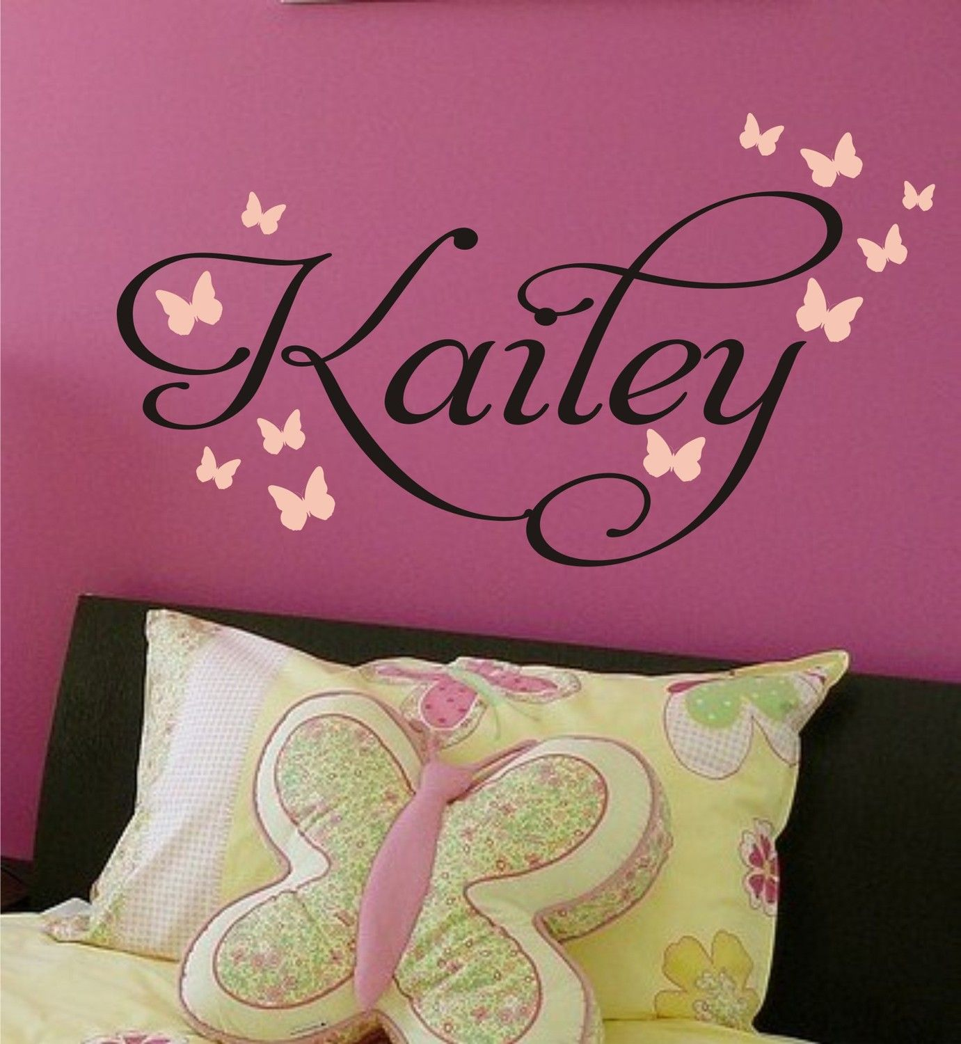 Butterfly Nursery Monogram Vinyl Decal Vinyl Lettering Vinyl - Monogram vinyl wall decals for boys