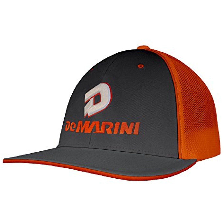 DeMarini Stacked D Flexfit Hat - White Black Charcoal  56a6bff13b6b