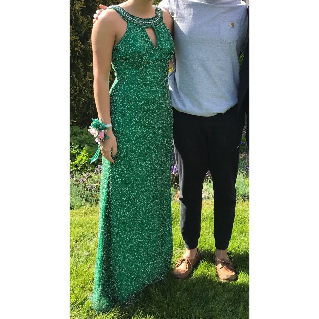 Emerald green prom dress  Shall K Emerald Green Size  Prom Dress  Products  Pinterest