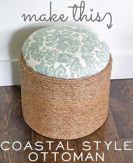 Make This: Coastal Style Ottoman   Cubos, Reciclado y Apoyar