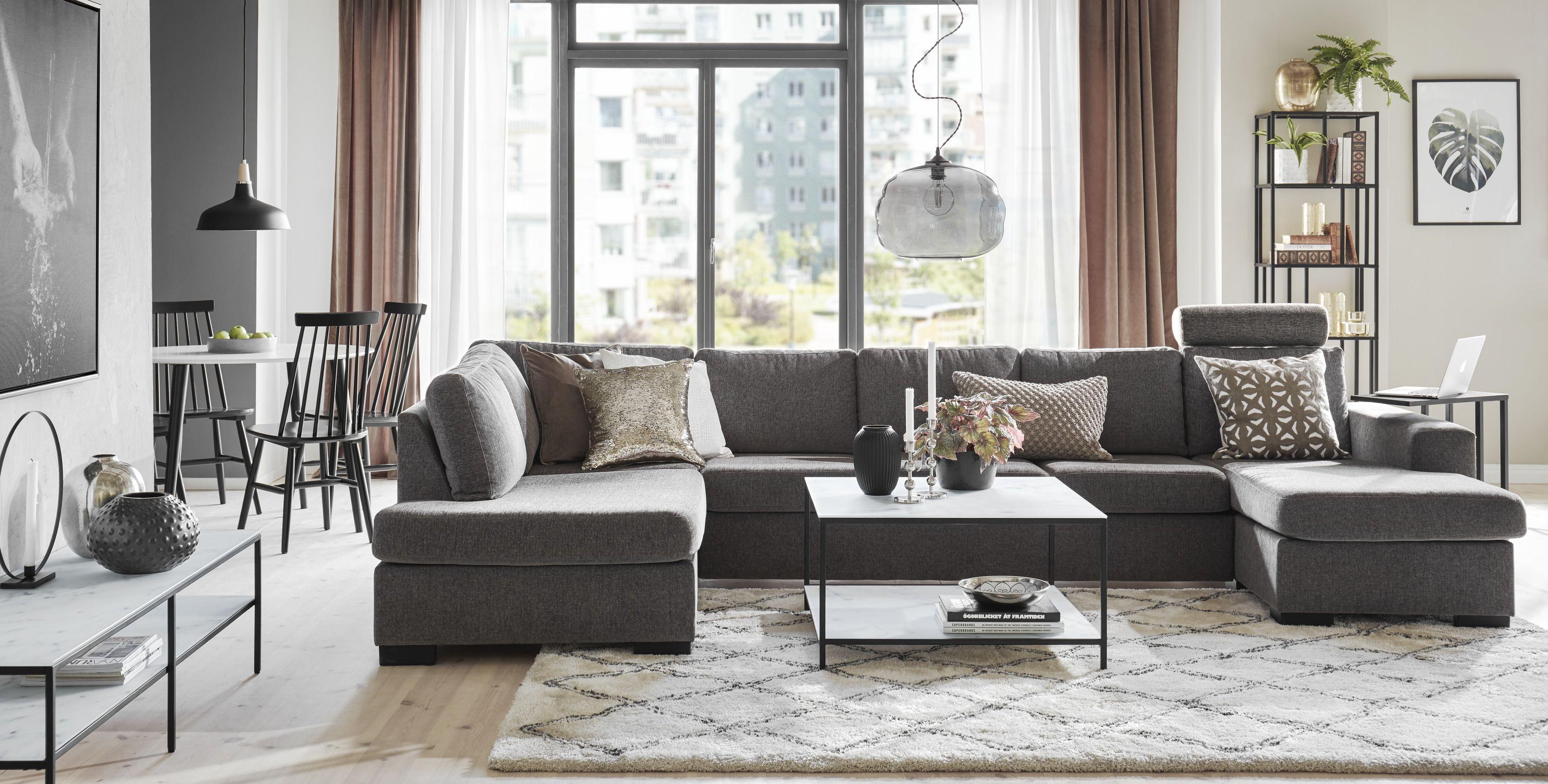 Nevada 4 sits soffa med schäslong och divan från Mio Vardagsrum i 2019 Soffa divan, Soffa