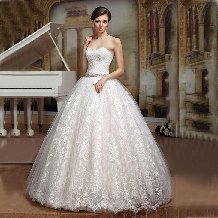 Sissi prinsessen trouwjurk van kant mooie bruidsjurk op maat ...