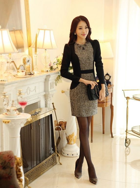 Korean Office Lady Dress Free Worldwide Shipping