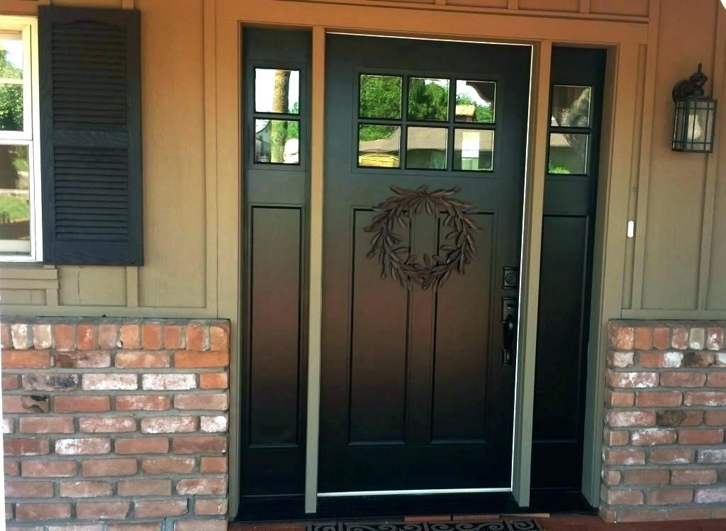 Front Door Color With No Sidelights Transom Exterior Doors With Sidelights Fiberglass Front Entry Doors Front Entry Doors