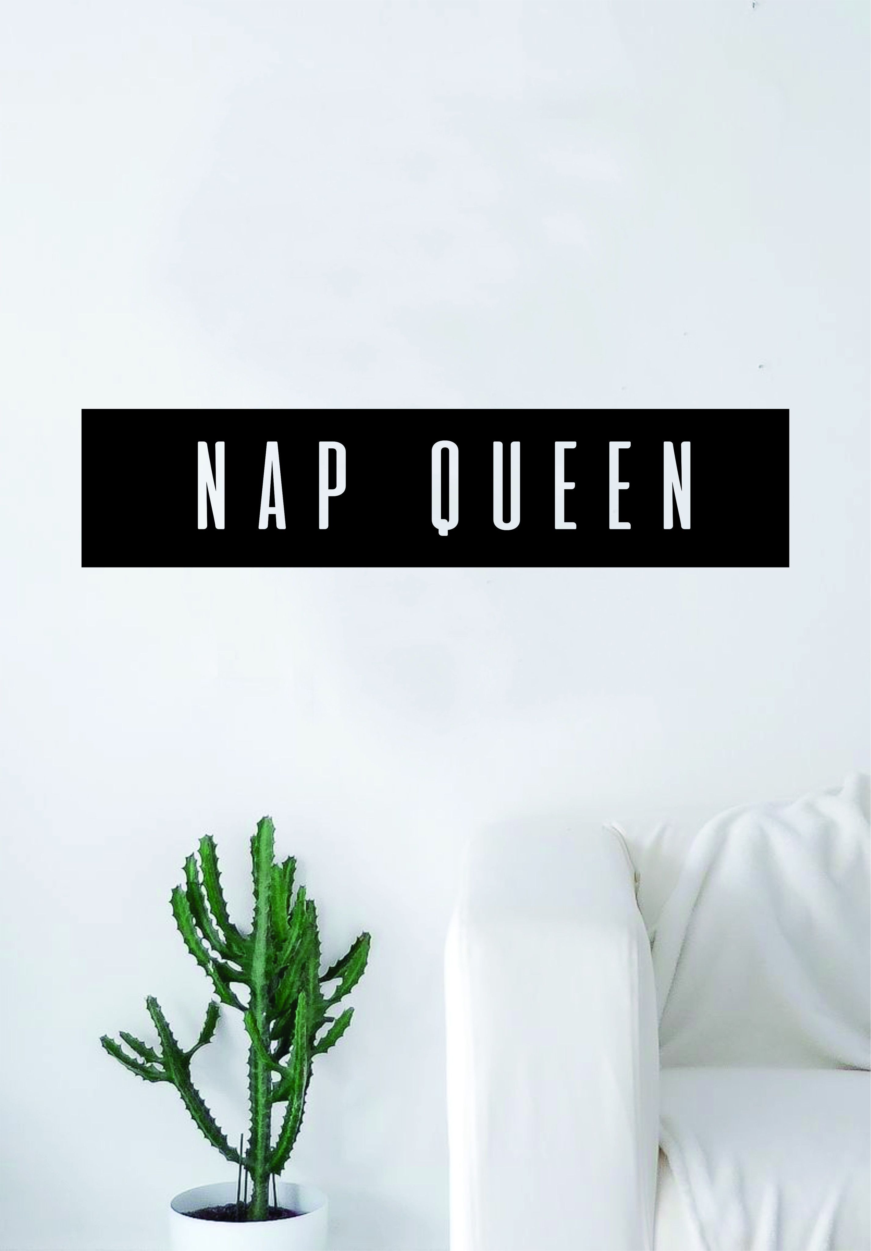 Nap queen rectangle box quote wall decal sticker bedroom living room