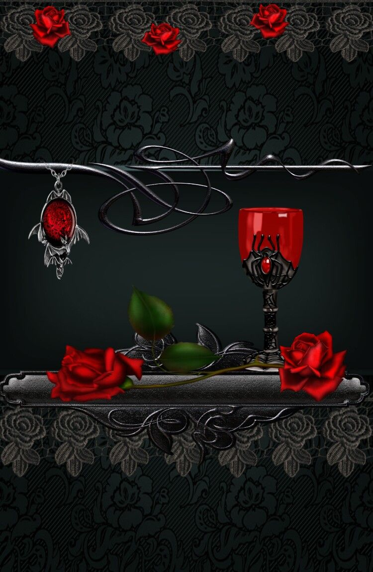 Gothic Wall Gothic wallpaper, Gothic rose, Gothic background